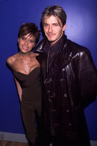<p><strong>Mr &amp; Mrs Brown</strong></p> <p>Victoria and David Beckham at the charity premiere of <em>Withnail and I</em> in London's West End on February 7, 2000.</p>