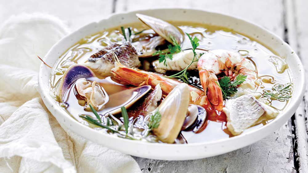 Summery seafood stew, Emma Ellice-Flint