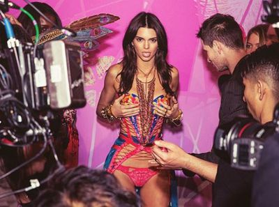 6. Backstage at Victoria's Secret.