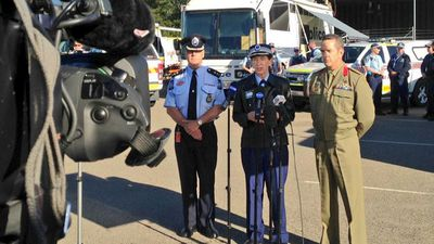 JOINT OP: The Australian Army, NSW Police Force and other emergency services are all involved in the exercise. (9NEWS)