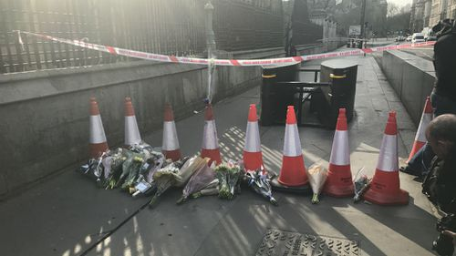 Tributes left at the scene.