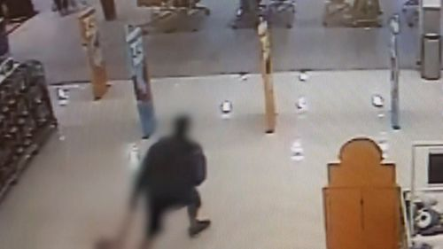 A man will spend at least seven months behind bars after he was caught flinging his daughter into a shopping centre security bollard. Picture; Supplied.