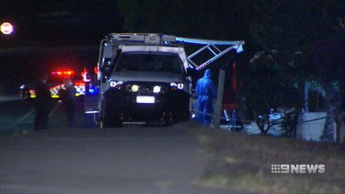 Police returned to the scene today. (9NEWS)