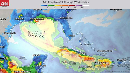 Two hurricanes set to descend on US Gulf Coast