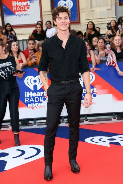 Shawn Mendes in Saint Laurent at the 2018 iHeartRADIO MuchMusic Video Awards in Toronto, Canada
