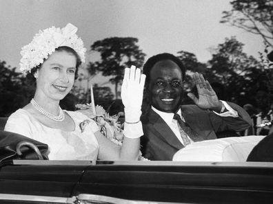 The Queen in Ghana in 1961