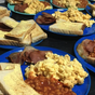 Australia's biggest family shows off their big breakfast-for-dinner meal