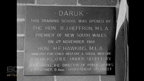 The Daruk Training School was established as a government training school teaching young offenders new skills. (60 Minutes)
