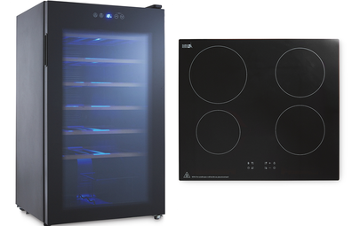 Aldi wine cooler fridge and induction cooktop