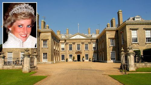 Princess Diana (inset) and the Althorp estate. (Getty)