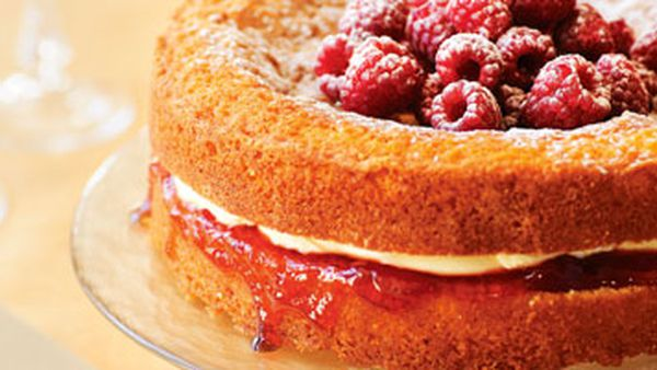 Butter cake with mascarpone