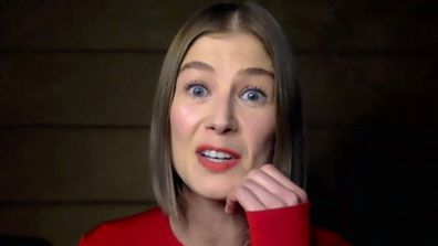 Why Rosamund Pike buries her awards in her garden