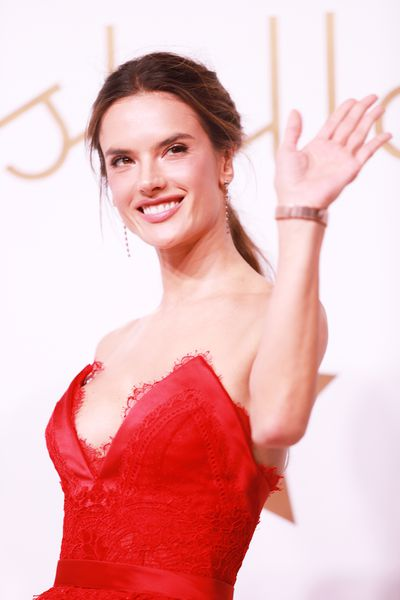 Alessandra Ambrosio attends the Omega 'Constellations' launch event on October 23, 2018 in Shanghai, China.