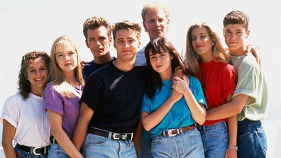 Cast of Beverly Hills, 90210.