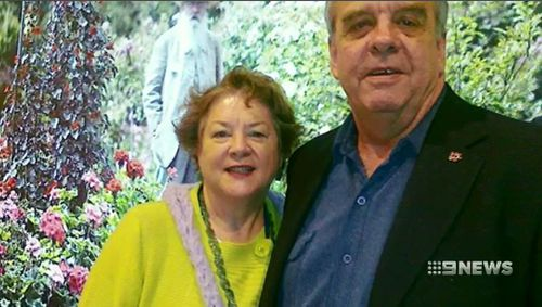 Ms Thwaites and her husband Anthony. Picture: 9NEWS