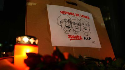 "<p>Five of France's most popular cartoonists - Stephane Charbonnier, Georges Wolinski, Bernard ""Tignous"" Verlhac, Philippe Honoré, and Jean ""Cabu"" Cabut - were among 10 journalists and two police officers killed by masked gunmen who stormed the Paris offices of satirical magazine Charlie Hebdo last night.</p><p>  The victims were reportedly called out by name and killed for ""insulting the Prophet"".</p><p> The periodical's editor and cartoonist Mr Charbonnier, known affectionately by his pen name ""Charb"", long claimed he preferred to ""die rather than live like a rat"" in the face of threats.</p><p> Also killed was economist Bernard Maris, 68, who wrote for the magazine under the pen name ""Oncle Bernard"" and an unnamed officer from a special protection service, tasked with protecting Mr Charbonnier.</p><p> The other officer, identified as Ahmed Merabet, was a Paris police officer linked to the 11th arrondissement, who was on patrol in the area.</p><p> Eleven others were injured in the attack. Four of them remain in a critical condition.</p>"