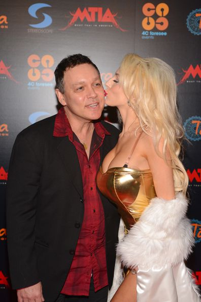 Doug Hutchison and Courtney Stodden attend the Muay Thai in America: In Honor Of The King - Celebrity VIP Event at Raleigh Studios on December 1, 2012 in Los Angeles, California.