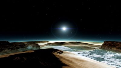 Is this what the surface of Pluto will look like? (NASA/JHUAPL)