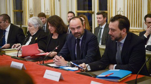 French Prime Minister Edouard Philippe gathered the ministers concerned in preparation for Brexit.