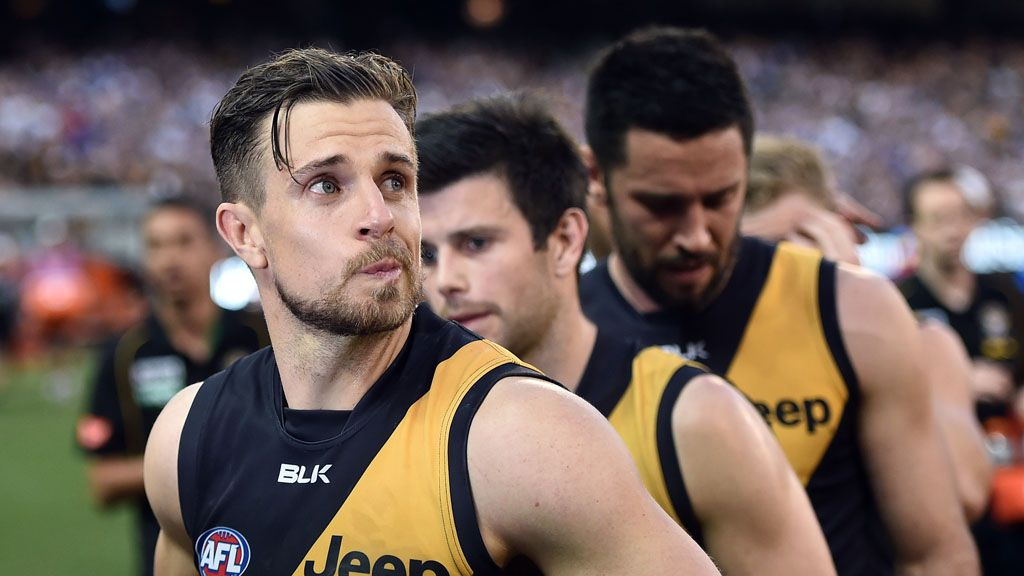 Brett Deledio reflects on another finals loss. (AAP)