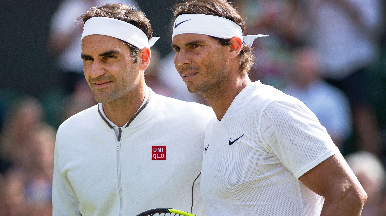 Roger Federer and Rafael Nadal.