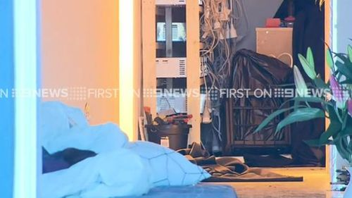 The home had three banks of transformers powering six bedrooms filled with growing cannabis. (9NEWS)