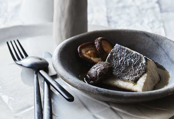 Mark Best's steamed blue eye trevalla and mushroom broth