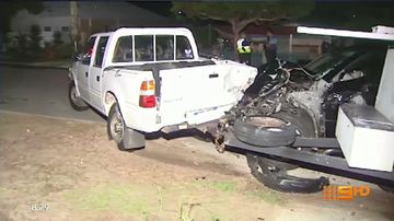 Driver on the run following police pursuit crash