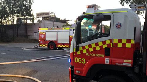 Firefighters suspect the blaze may have started underneath a hydraulics machine. (NSW Fire and Rescue)