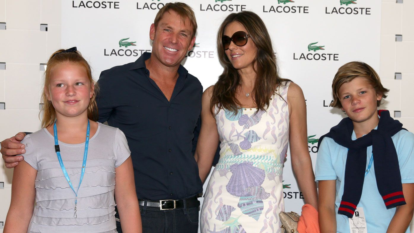 Shane Warne, children, and Liz Hurley