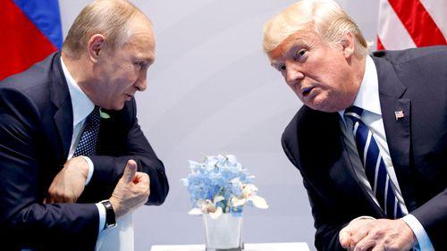 Vladimir Putin and Donald Trump. (AAP)
