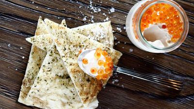 """<a href=""""http://kitchen.nine.com.au/2016/09/18/22/06/the-apollos-taramasalata-traditional-mullet-roe-dip"""" target=""""_top"""">The Apollo's taramasalata traditional mullet roe dip</a><br /> <br /> <a href=""""http://theapollo.com.au/"""" target=""""_top"""">The Apollo, Potts Point NSW</a>"""
