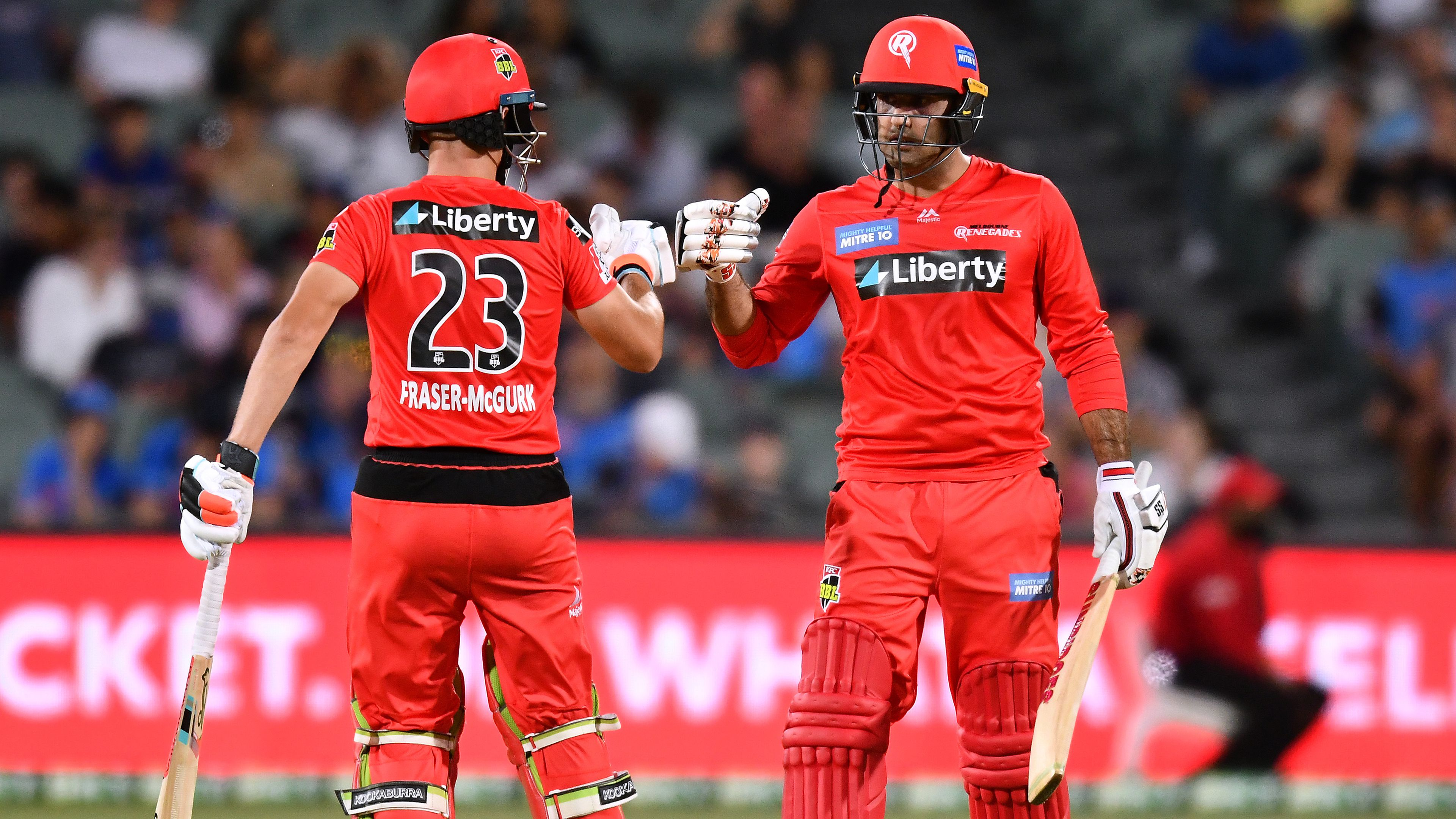 Unlikely duo guide Melbourne Renegades to win over Adelaide Strikers, snapping a seven game losing streak