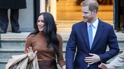 Meghan Markle and Prince Harry leave Canada House in London January 2020