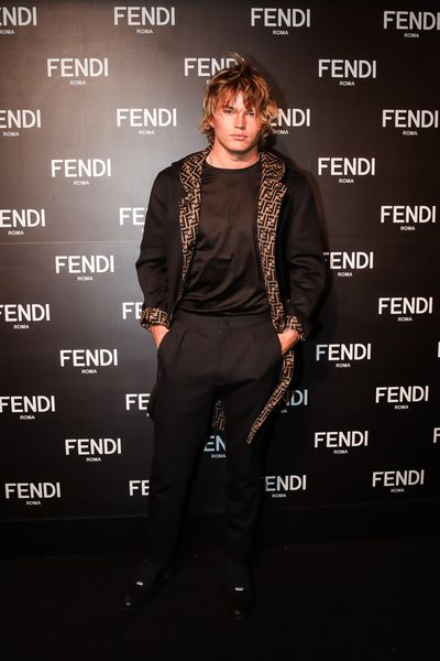 Jordan Barrett at the opening of Fendi's new boutique in Collins Street Melbourne