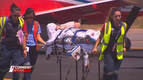 Alex Lawrie was critically injured when his chopper crashed in Australia's Red Centre. He was told he would never walk again.