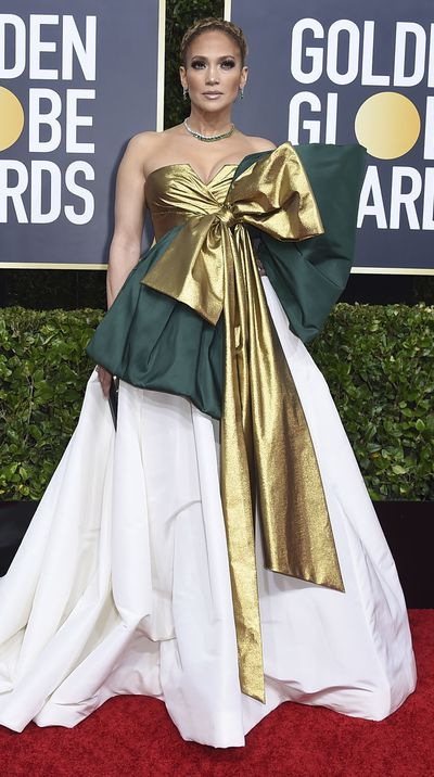 Jennifer Lopez at the 2020 Golden Globes.
