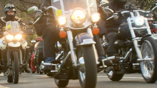 The ride honours Victoria Police officers who have fallen in the line of duty. (9NEWS)