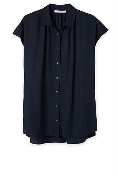 "<a href=""https://www.trenery.com.au/shop/womenswear/clothing/shirts/60199793/Short-Sleeve-Modal-Blouse.html"" target=""_blank"">Trenery</a> short sleeve shirt, $99.95"