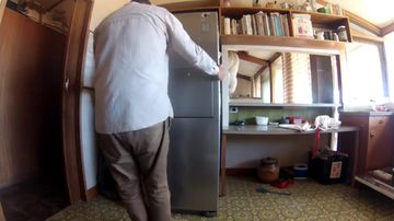 9RAW: Brown snake caught under the fridge in South Australia home