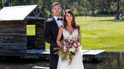 Official pictures from KC and Drew's wedding day on MAFS 2020