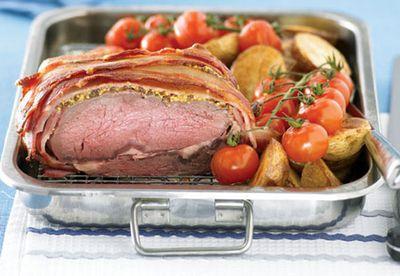 Beef and bacon roast
