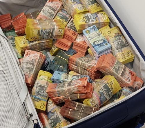 Queensland Police have seized more than $1.5 million in cash.