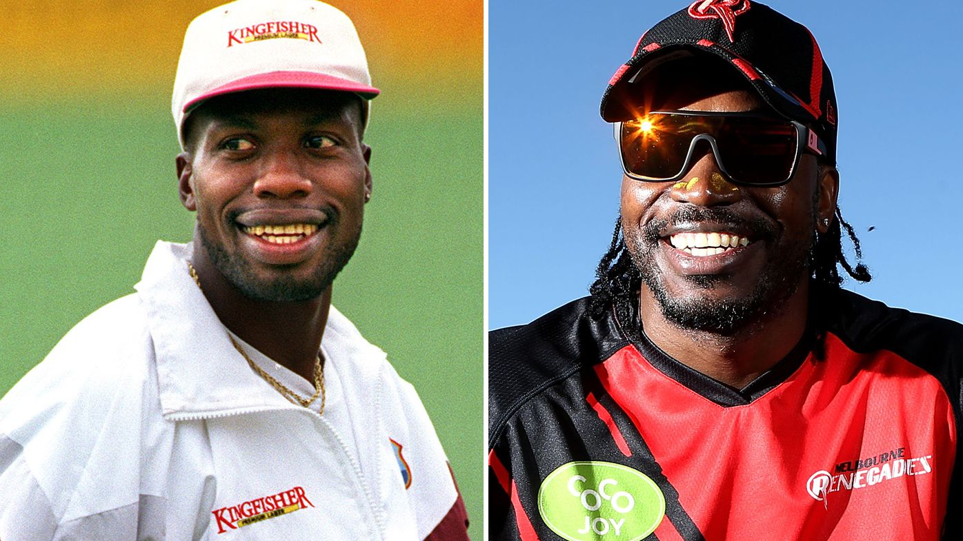 A war of words has erupted between Curtly Ambrose (left) and Chris Gayle ahead of the T20 World Cup.