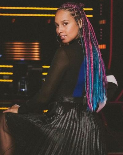 Alicia Keys is all colours of the rainbow with her new box braids.