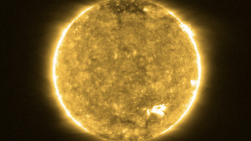 This full size view of the sun was taken by the Solar Orbiter on May 30, 2020. (Image credit: Solar Orbiter/EUI Team (ESA & NASA); CSL, IAS, MPS, PMOD/WRC, ROB, UCL/MSSL)