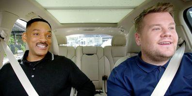 James Corden, carpool karaoke, driving, Will Smith