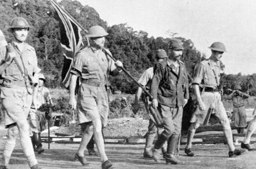 The British surrender at Singapore in 1942 made thousands of Allied troops  prisoners of the Japanese.