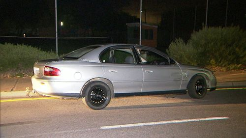 Even road spikes were unable to stop the car. (9NEWS)