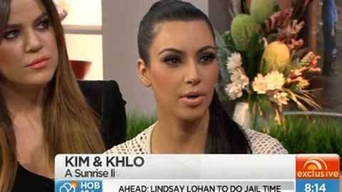 Kim Kardashian on Sunrise